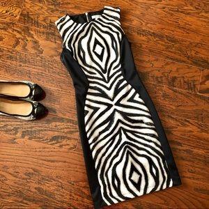 Bisou Bisou Zebra Print Slimming Sheath Dress